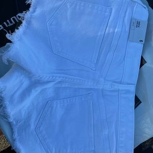Express Low Rise White Shorts